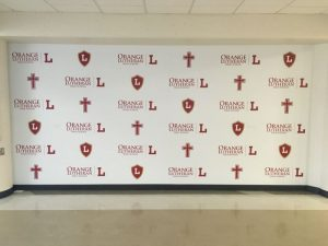 North Houston Church Signs custom wall vinyl step repeat mural 300x225