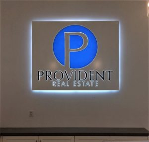 Indoor Lighted Lobby Sign